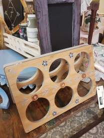 Hand painted wine racks